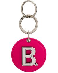 Balenciaga Mirror Logo Keyring - Pink