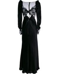 Alessandra Rich Abendkleid mit Spitze - Schwarz