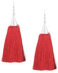 Eddie Borgo Long tassel earrings - Rosso
