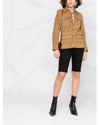 Saint Laurent Куртка С Поясом - Многоцветный