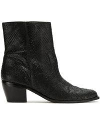 Mara Mac Leather Ankle Boots - Black