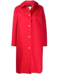 Mackintosh Однобортное Пальто Fairlie - Красный