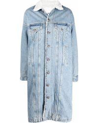 R13 Long-line Denim Jacket - Blue