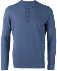 Zanone - Button Up Sweatshirt - Lyst