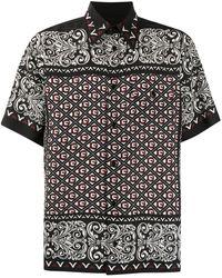 Dolce & Gabbana Hemd mit Bandana-Print - Schwarz