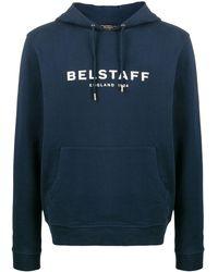 Belstaff ロゴプリント パーカー - ブルー