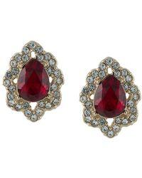 Marchesa notte Crystal-embellished Post-back Earrings - Metallic