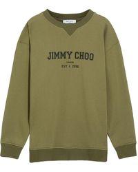 Jimmy Choo Felpa JC College con stampa - Verde