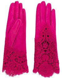 Ermanno Scervino - Lace Detail Gloves - Lyst