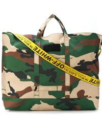 Off-White c/o Virgil Abloh Camoflaugue Holdall - Green