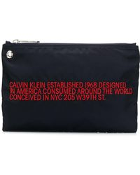 CALVIN KLEIN 205W39NYC Branded Small Pouch - Blue