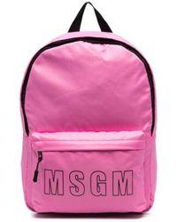 MSGM ロゴ バックパック - ピンク