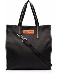 Heron Preston Logo Patch Tote Bag - Black