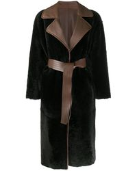 Blancha Manteau à design réversible - Marron