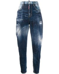 DSquared² Slim-fit Distressed Jeans - Blauw