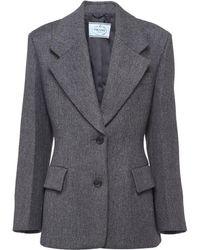 Prada シングルジャケット - グレー
