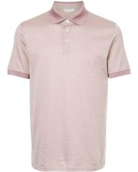 Gieves & Hawkes Patterned Polo Shirt - Pink