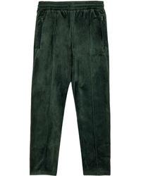 Stadium Goods Pantalones de chándal de velour con logo bordado - Verde