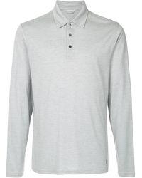 Gieves & Hawkes ストライプ ポロシャツ - ホワイト