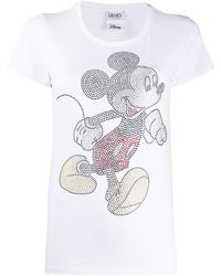 Liu Jo Walt Disney Mickey T-shirt - White