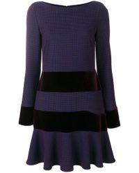 Talbot Runhof - Striped Stretch Dress - Lyst