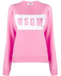 MSGM Logo Box Sweatshirt - Pink