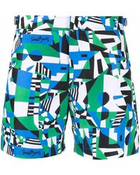 Orlebar Brown Geometric-print Swim Shorts - Multicolour