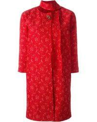 Ermanno Scervino - Brooch Lace Coat - Lyst
