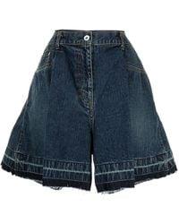 Sacai Wide-leg Denim Shorts - Blue