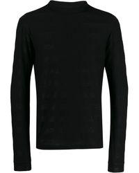 Saint Laurent Glittered Roll-neck Sweater - Black
