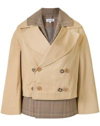 Dice Kayek Layered Double-breasted Jacket - Natural
