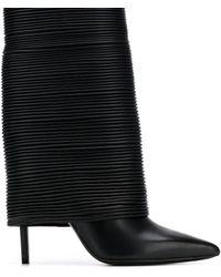 Balmain レザー ミッドカーフ ブーツ - ブラック