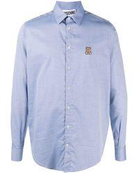 Moschino Рубашка С Нашивкой-логотипом - Синий