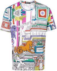 Versace - T-shirt Met Print - Lyst