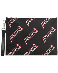 Philipp Plein Клатч С Логотипом - Черный