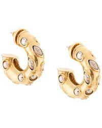 Oscar de la Renta - Embellished Hoop Earrings - Lyst