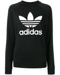 adidas ロゴ スウェットシャツ - ブラック