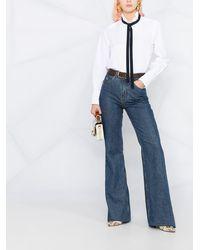 Chloé ラッフルカラー シャツ - ホワイト