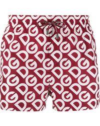 Dolce & Gabbana - Short de bain à logo - Lyst