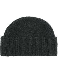 Drumohr Cable Knit Beanie - Gray
