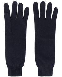 Jil Sander Cashmere Gloves - Blue