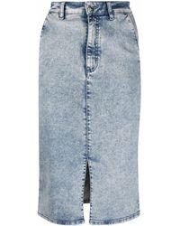 HUGO Denim Midi Skirt - Blue