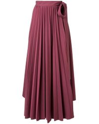 Dalood - Wrap-around Pleated Maxi-skirt - Lyst