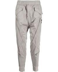 Julius Pilot Zipped-pocket Track Pants - Grey