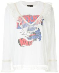 Kolor - Lace Layered Printed Top - Lyst