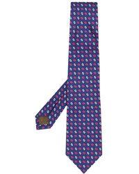 Church's Oval-print Silk Tie - Blue