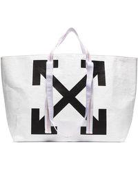 Off-White c/o Virgil Abloh Bolso shopper White arrows - Blanco