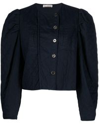 Ulla Johnson Quilted Cropped Jacket - Blue
