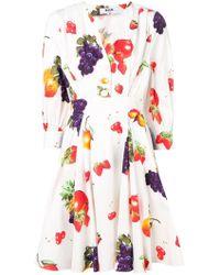 MSGM Платье С Фруктовым Принтом - Многоцветный