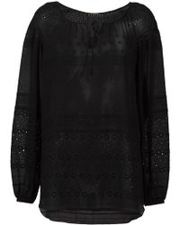 Saint Laurent - Broderie Anglaise Gypsy Blouse - Lyst